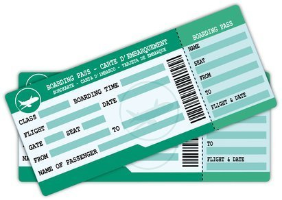 2 grüne Boardtickets
