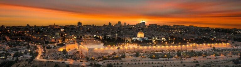 israel mit Sonnenuntergang